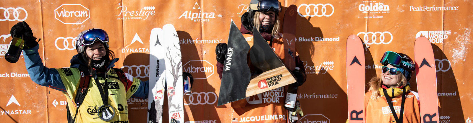 Hazel Birnbaum finit 3ème de la seconde étape du Freeride World Tour à Kicking Horse
